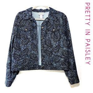 Jones Wear Jackets & Coats - Jones Wear Sport Paisley Jean Jacket